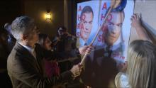 Pegada de carteles al comienzo de la campaña electoral