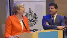 Theresa May y Fabian Picardo