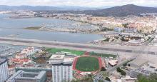 Vista desde Gibraltar de La Línea y parte de la Bahía de Algeciras