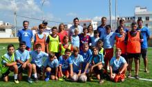 La pretemporada del fútbol base estrena las mejoras de las pistas de Fútbol 7
