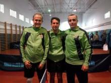 El tenis de mesa barreño de veteranos pasa a la siguiente fase tras quedar campeón de su grupo