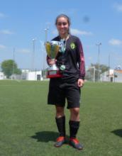 Natalia Vallejo, campeona de Andalucía de fútbol femenino con la selección gaditana