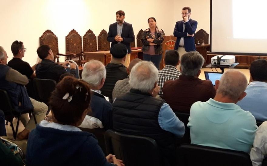 Martínez, Peño y Franco en una reunión similar celebrada hace unos días