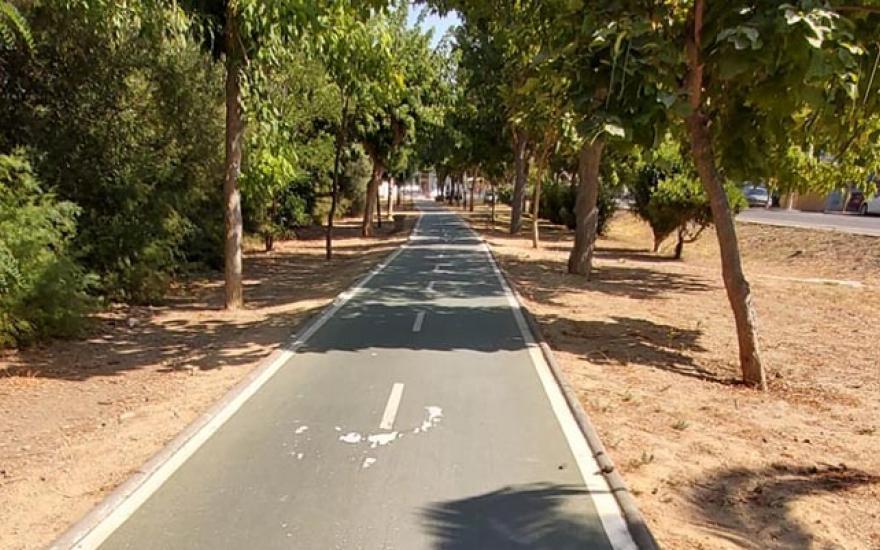Imagen del carril bici proporcionada por el Club Ciclista Los Dalton
