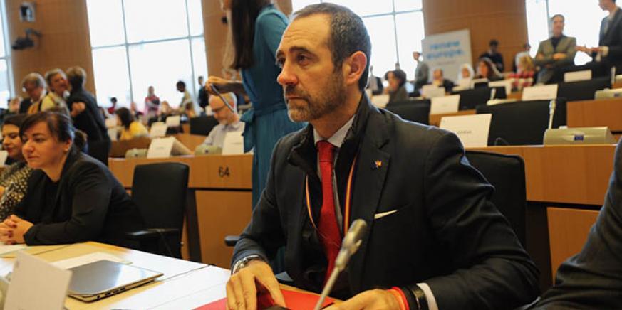 El eurodiputado español José Ramón Bauzá