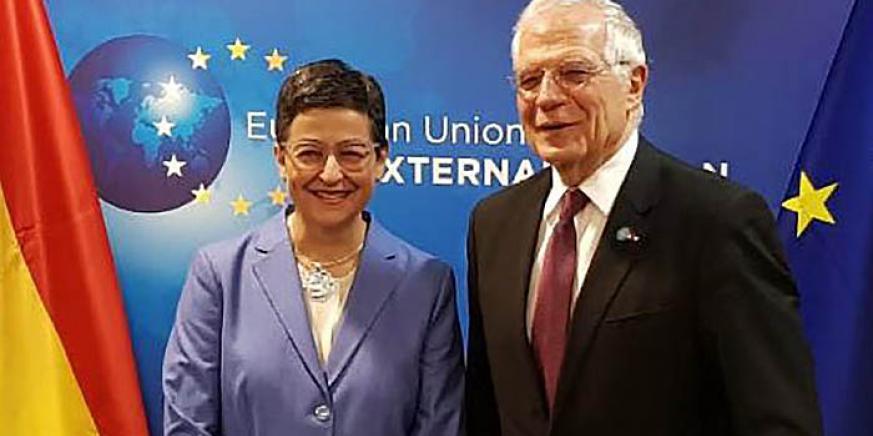 González Laya y Borrell, ministros de Exteriores de España actual y anterior