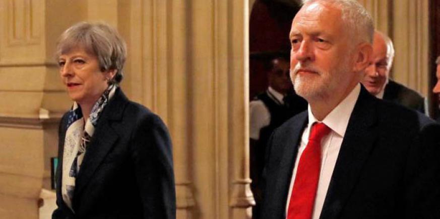May y Corbyn en una imagen de archivo