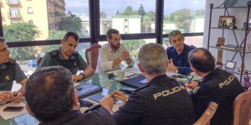 La mesa técnica de seguridad, reunida en el Ayuntamiento de La Línea