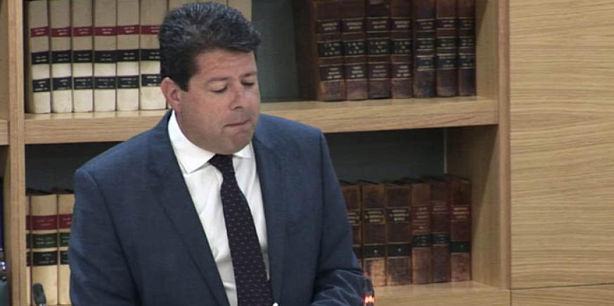 Picardo en el Parlamento, en una foto de archivo