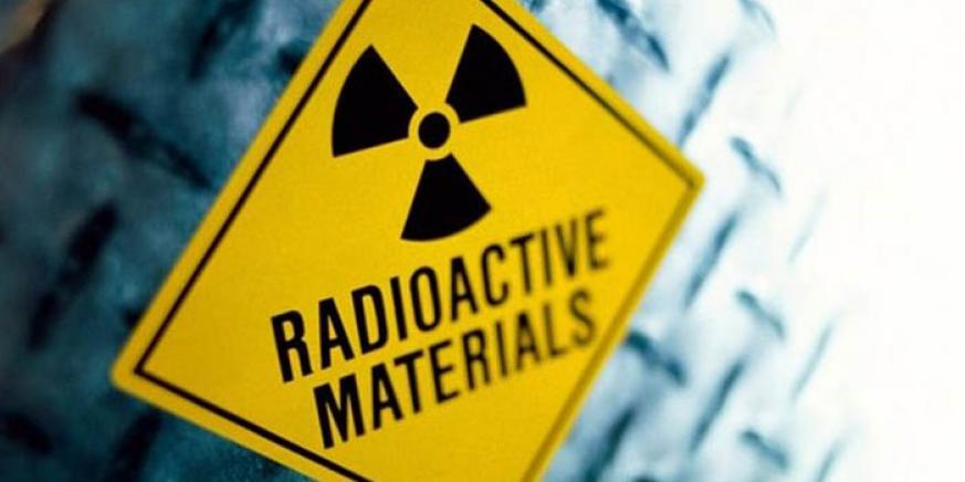 Cartel de residuos radiactivos