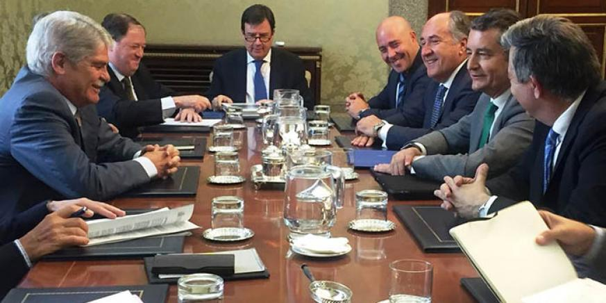 Reunión en el Ministerio de Asuntos Exteriores español, el jueves pasado