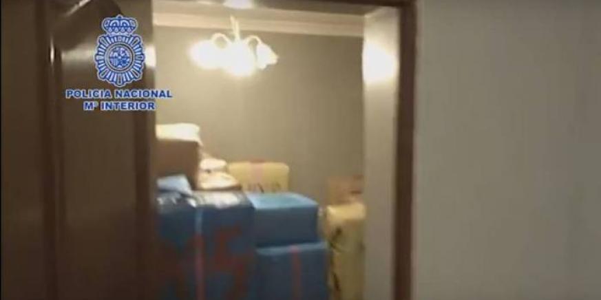 La droga, apilada en una vivienda de La Línea usada como guardería