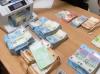 Dinero confiscado por el Tribunal de Primera Instancia. Foto GG